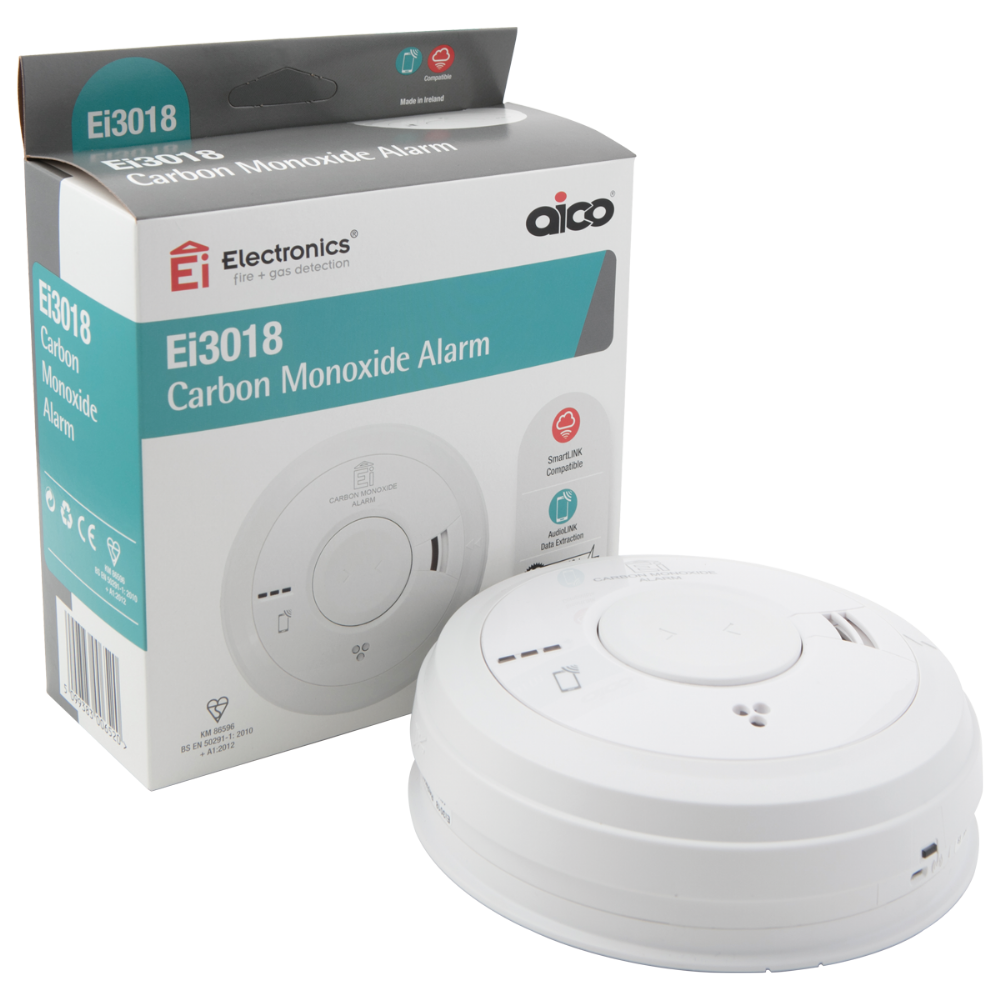 Aico EI3018 3000 Series Carbon Monoxide Alarm with Rechargeable Lithium Battery Backup